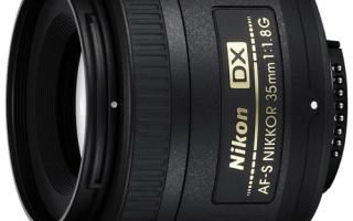 Описание объектива AF-S DX NIKKOR 35mm f/1.8G