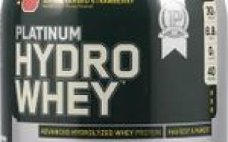 Краткий обзор Optimum Nutrition Platinum Hydrowhey — Январь 2020