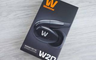 Краткий обзор Westone W20 — Январь 2020