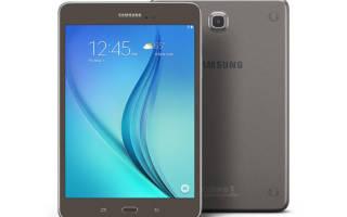 Краткий обзор Samsung Galaxy Tab A 8.0 — Январь 2016