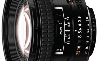 Описание объектива AF NIKKOR 20mm f/2.8D