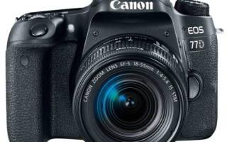 Краткий обзор Canon EOS 77D Kit — Декабрь 2020