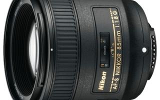 Описание объектива AF-S NIKKOR 85 мм f/1,8G