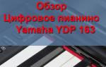 Краткий обзор Yamaha YDP-163 — Февраль 2017