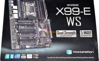 Краткий обзор ASUS X99-E WS — Январь 2019