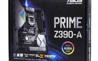 Краткий обзор ASUS PRIME Z390-A — Декабрь 2019