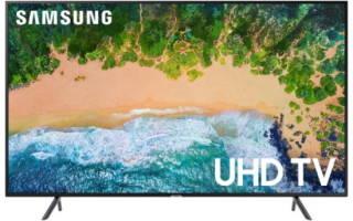 Краткий обзор Samsung UE43NU7100U — Ноябрь 2020