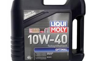 Краткий обзор LIQUI MOLY Optimal 10W-40 — Январь 2019